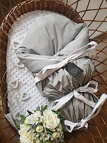 Textil - Paperová zavinovačka šedá s bielym detailom - 12564859_