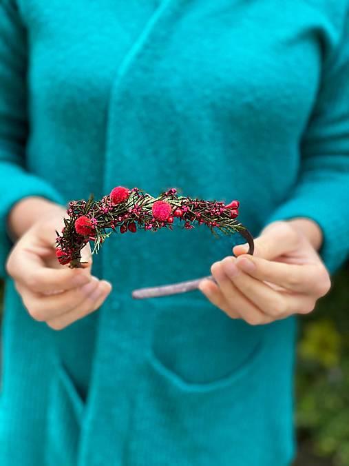 """Kvetinová čelenka """"jeseň sa červená"""""""