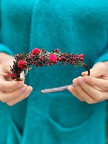 """Ozdoby do vlasov - Kvetinová čelenka """"jeseň sa červená"""" - 12567536_"""