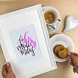 Obrázky - Jedz, Modli sa, Miluj - print A5/A4 - 12569907_