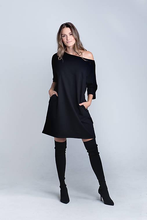 Šaty - Teplákové mini šaty - 12565170_