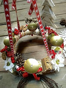 Dekorácie - Vianoce - adventný veniec d9 - 12566744_