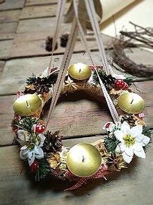 Dekorácie - Vianoce - adventný veniec d10 - 12566823_