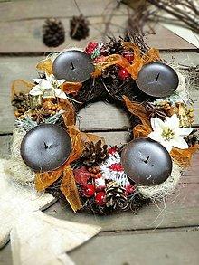 Dekorácie - Vianoce - adventný veniec d11 - 12566860_