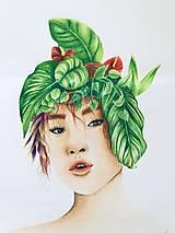 """Kresby - Botanické ArtDeco """"Fairy Lady"""" - 12567841_"""
