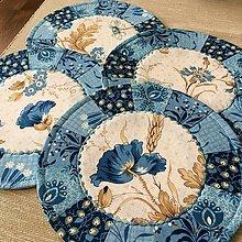Úžitkový textil - prestierania modré - 12566116_