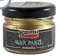 Farby-laky - Metalická vosková pasta, zlatá 20 ml - 12567449_