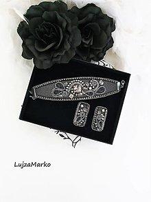 Sady šperkov - Šedá  elegancia - 12568219_