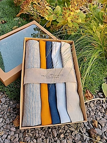 Úžitkový textil - Darčeková sada Linen Towels Modern - 12569466_
