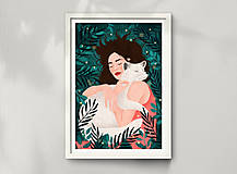 Grafika - Polární liška - umělecký tisk - 12575415_