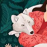 Grafika - Polární vlk - umělecký tisk - 12575537_