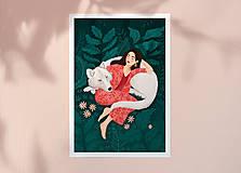 Grafika - Polární vlk - umělecký tisk - 12575540_