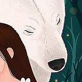 Grafika - Polární medvěd - umělecký tisk - 12575568_