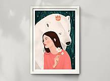 Grafika - Polární medvěd - umělecký tisk - 12575571_