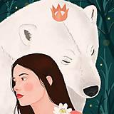 Grafika - Polární medvěd - umělecký tisk - 12575572_