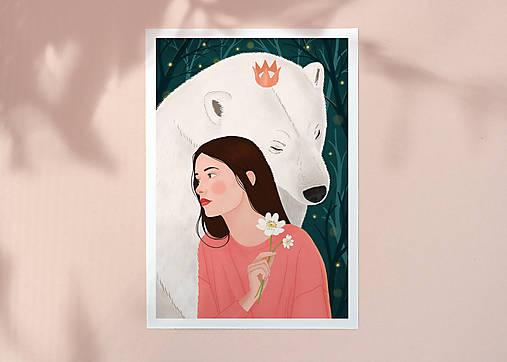 Polární medvěd - umělecký tisk