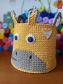 Detské doplnky - Košík - žirafka - 12574294_