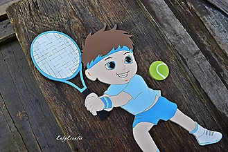 Detské doplnky - 35cm tenista - 12571215_