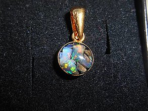 Náhrdelníky - nature opals-for happy-zlato - 12571134_