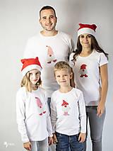 Tričká - VIANOČNÝ SET - Tričká pre celú rodinu - 12572672_