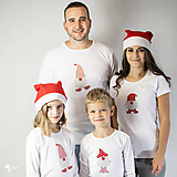 Tričká - VIANOČNÝ SET - Tričká pre celú rodinu - 12572681_