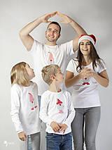 Tričká - VIANOČNÝ SET - Tričká pre celú rodinu - 12572704_