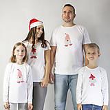 Tričká - VIANOČNÝ SET - Tričká pre celú rodinu - 12572719_