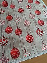 Úžitkový textil - Obrus červené gule - 12570398_