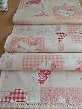 Úžitkový textil - Obrus -štóla srdiečka - 12575323_