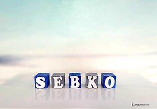 Hračky - Kocky drevené Sebko - 12574707_
