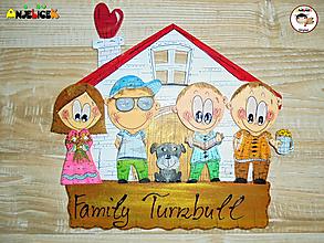 Tabuľky - Menovka - rodinka a domček - 12575859_