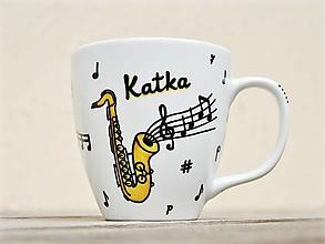 Nádoby - Hrnček pre hudobníka/muzikanta - Noty a hudobný nástroj - 12575428_