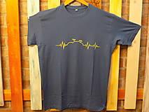 Tričká - Modré pánske tričko - Bike Pulz - 12575434_