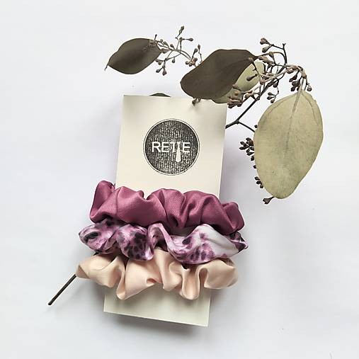 Silky set scrunchies (Pink Panther)