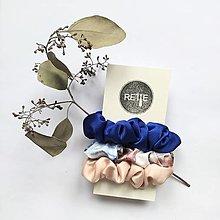 Ozdoby do vlasov - Silky set scrunchies (Ocean Pink) - 12573351_