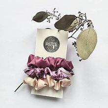 Ozdoby do vlasov - Silky set scrunchies (Pink Panther) - 12573358_