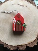 Dekorácie - Vianočné dvere , domček - 12571960_