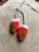 Dekorácie - Vianočné rukavičky - 12572009_