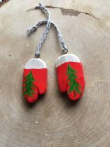 Dekorácie - Vianočné rukavičky - 12572013_