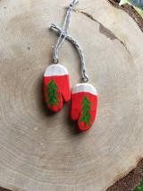 Dekorácie - Vianočné rukavičky - 12572014_
