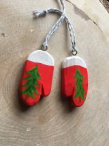 Dekorácie - Vianočné rukavičky - 12572016_