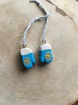 Dekorácie - Vianočné rukavičky drevené - 12572067_