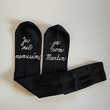 Obuv - Maľované ponožky s nápisom: Ja nič nemusím, ja som unicorn (S menom) - 12575714_