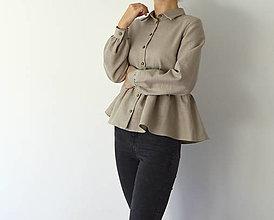 Košele - Ľanová košeľa Edita - 12576332_