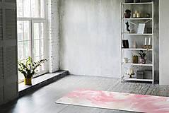 Úžitkový textil - Štýlová joga podložka Zamilovanosť z 100% prírodného kaučuku - 12574720_