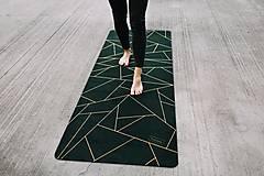 Úžitkový textil - Štýlová joga podložka Spomienky zo 100% prírodného kaučuku - 12575233_