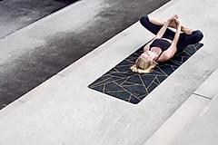 Úžitkový textil - Štýlová joga podložka Spomienky zo 100% prírodného kaučuku - 12575234_