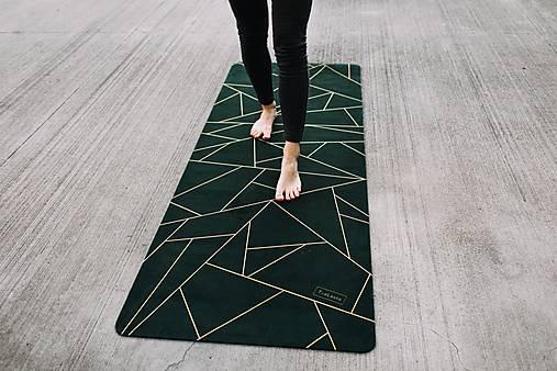 Štýlová joga podložka Spomienky zo 100% prírodného kaučuku