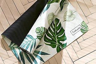 Úžitkový textil - Štýlová joga podložka Poznanie z 100% prírodného kaučuku - 12574854_