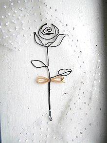 Dekorácie - Ružička * 21 prírodná - 12572701_